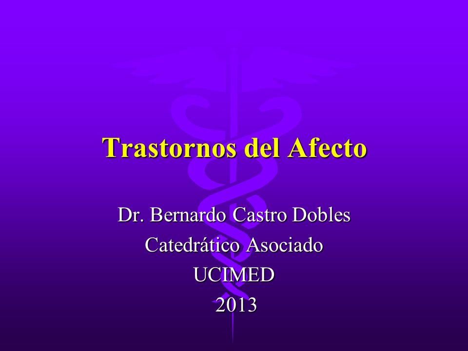 Dr. Bernardo Castro Dobles Catedrático Asociado UCIMED 2013