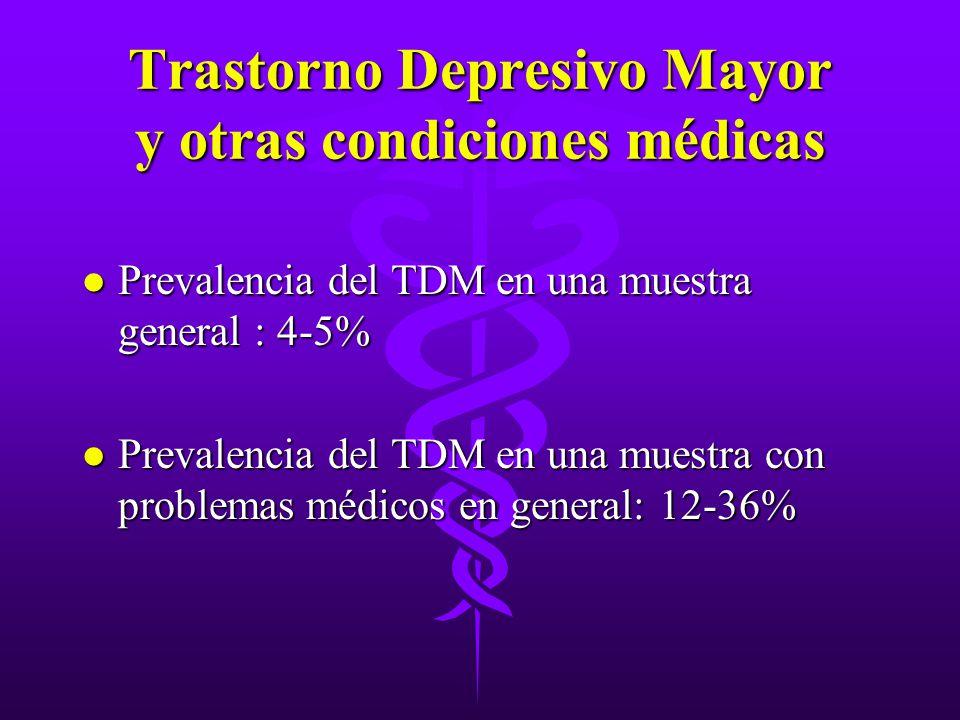 Trastorno Depresivo Mayor y otras condiciones médicas