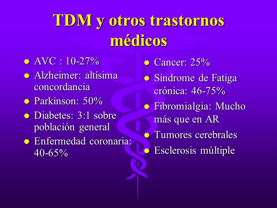 TDM y otros trastornos médicos