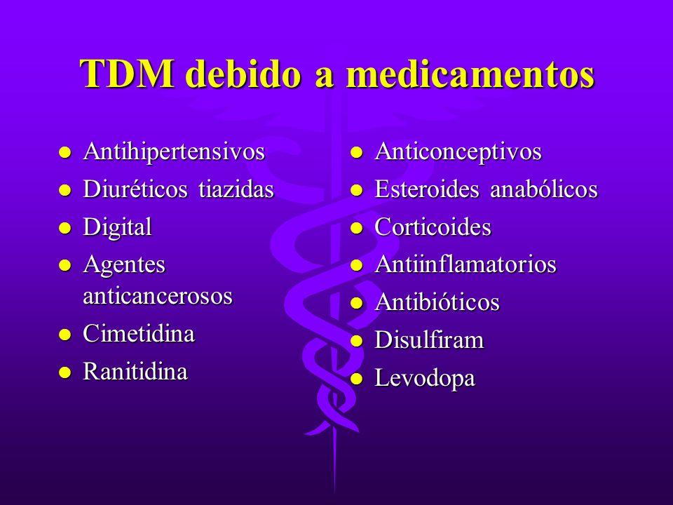 TDM debido a medicamentos