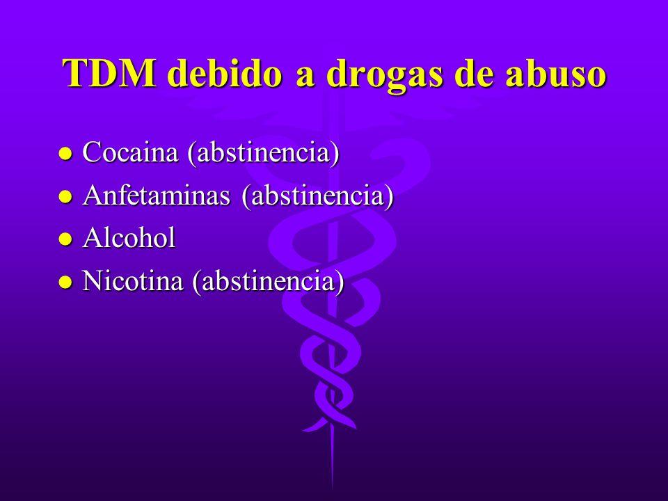 TDM debido a drogas de abuso