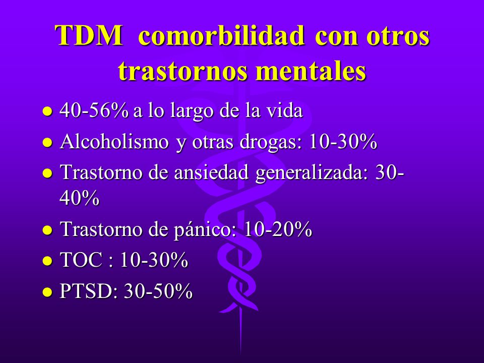 TDM comorbilidad con otros trastornos mentales