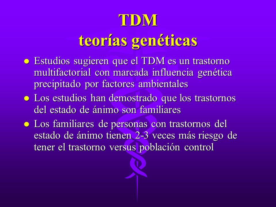 TDM teorías genéticas