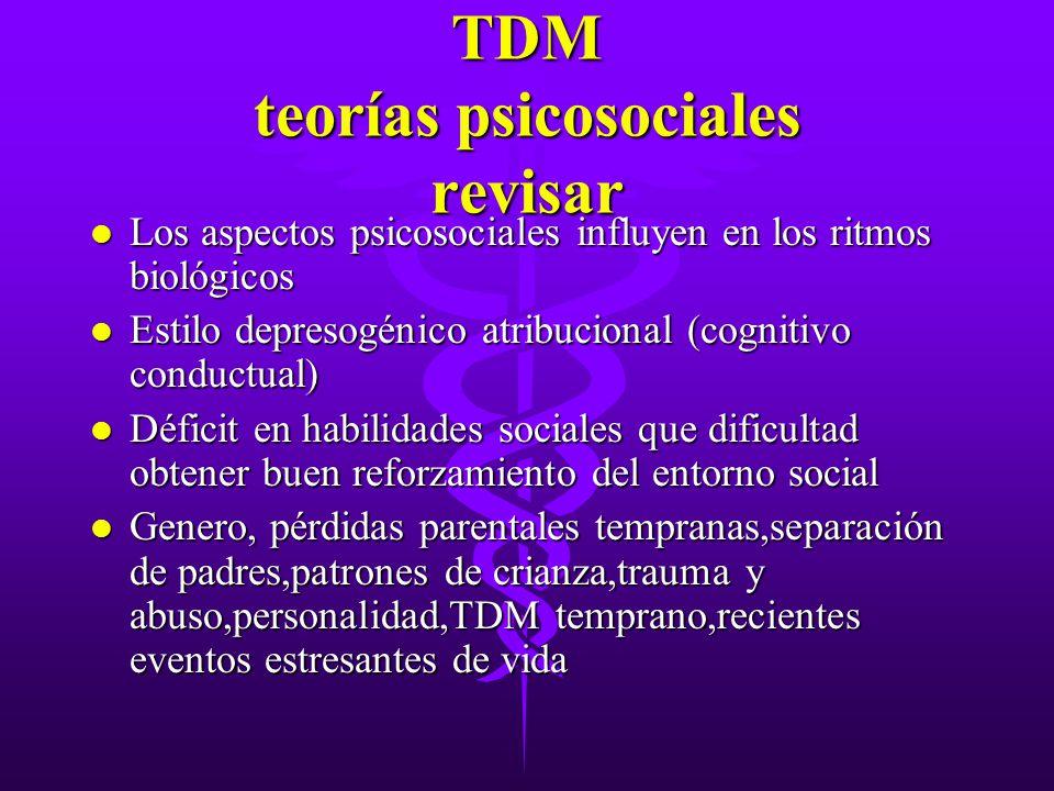 TDM teorías psicosociales revisar