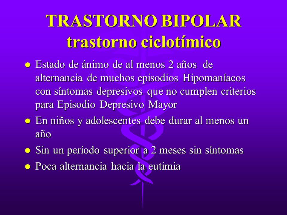 TRASTORNO BIPOLAR trastorno ciclotímico