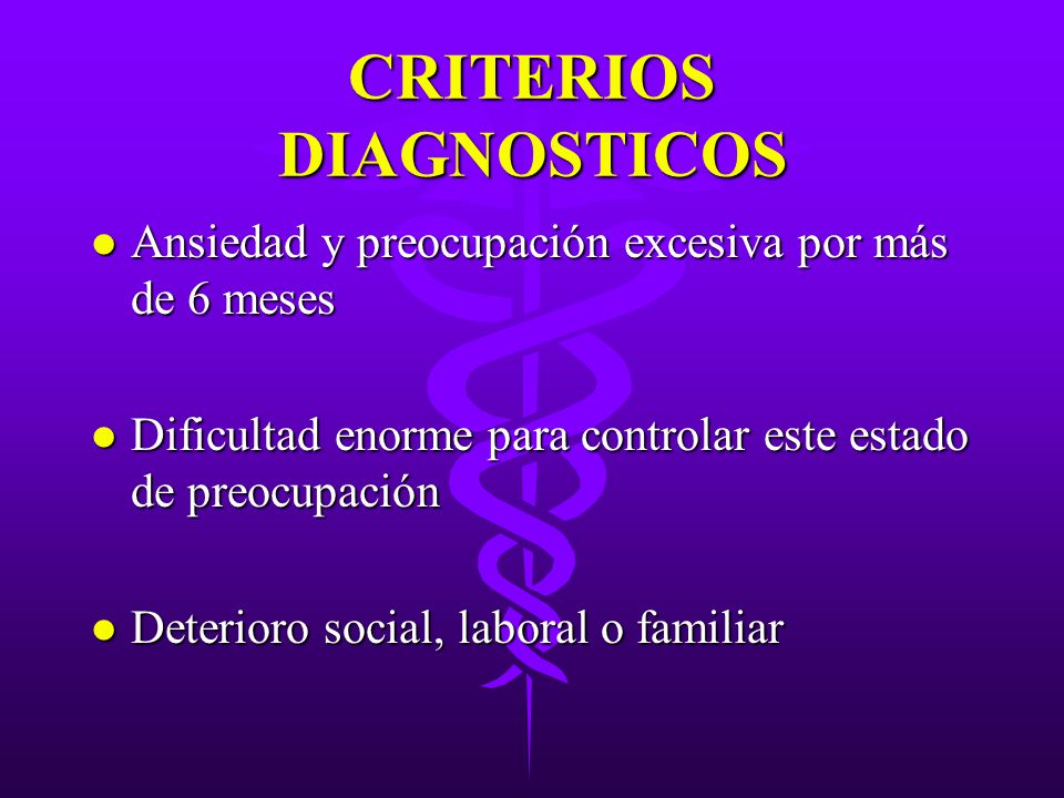 CRITERIOS DIAGNOSTICOS