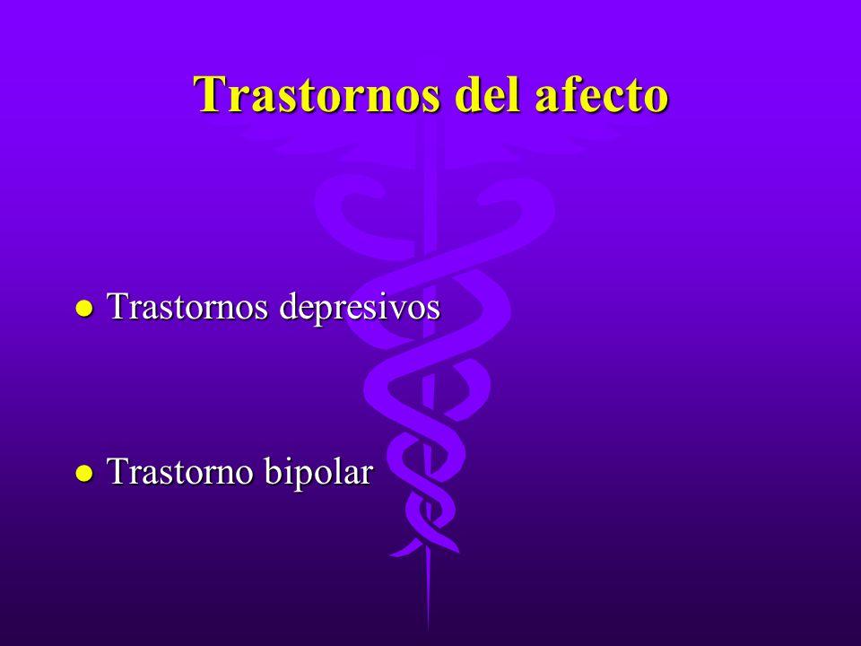 Trastornos del afecto Trastornos depresivos Trastorno bipolar