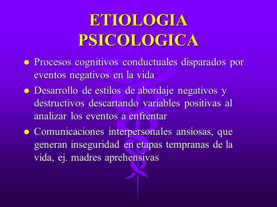ETIOLOGIA PSICOLOGICA