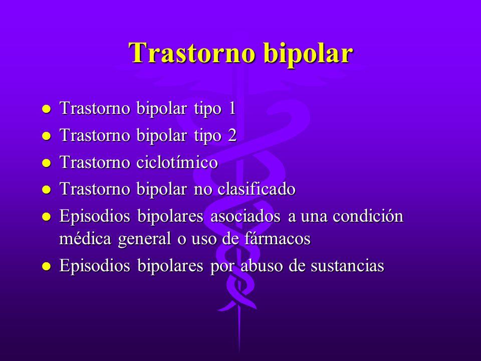 Trastorno bipolar Trastorno bipolar tipo 1 Trastorno bipolar tipo 2