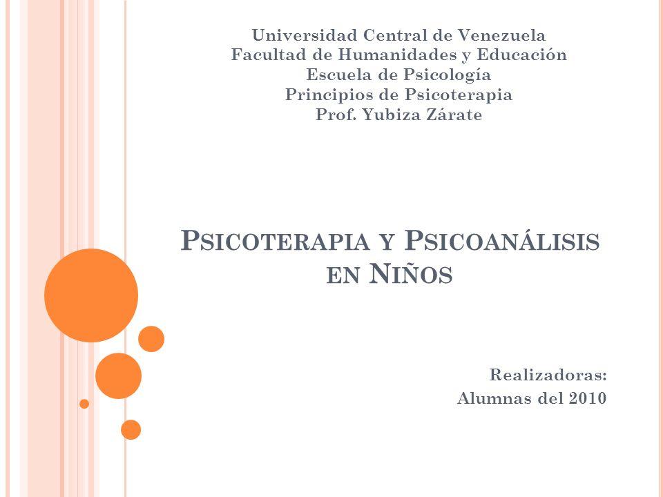 Psicoterapia y Psicoanálisis en Niños