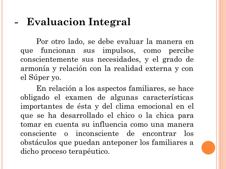 - Evaluacion Integral