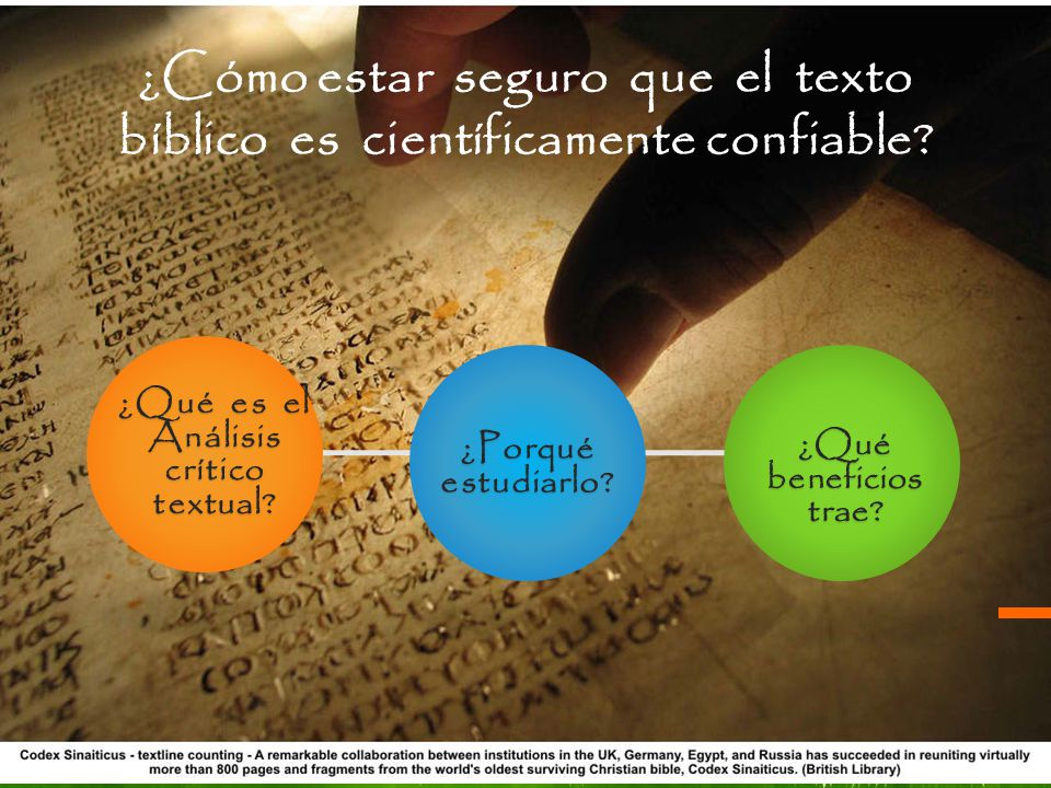 ¿Cómo estar seguro que el texto bíblico es científicamente confiable