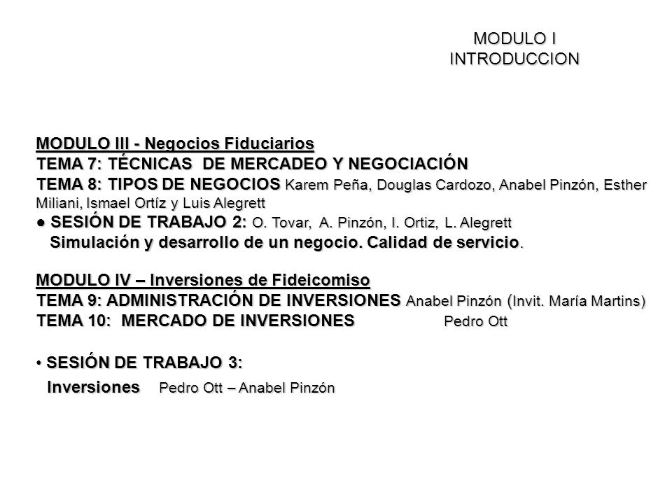 Inversiones Pedro Ott – Anabel Pinzón