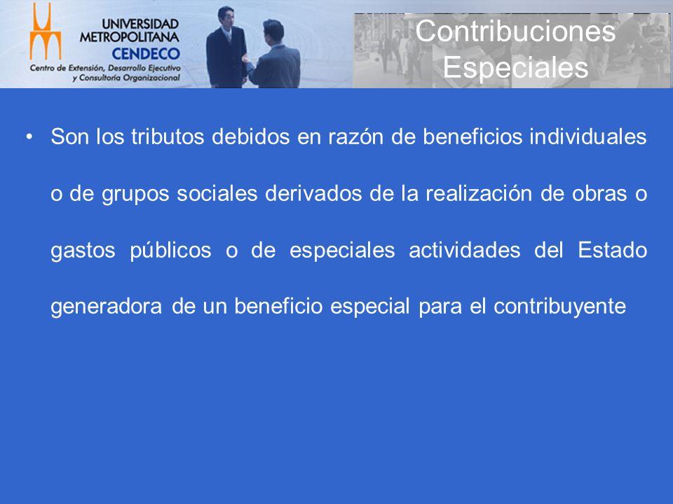 Contribuciones Especiales