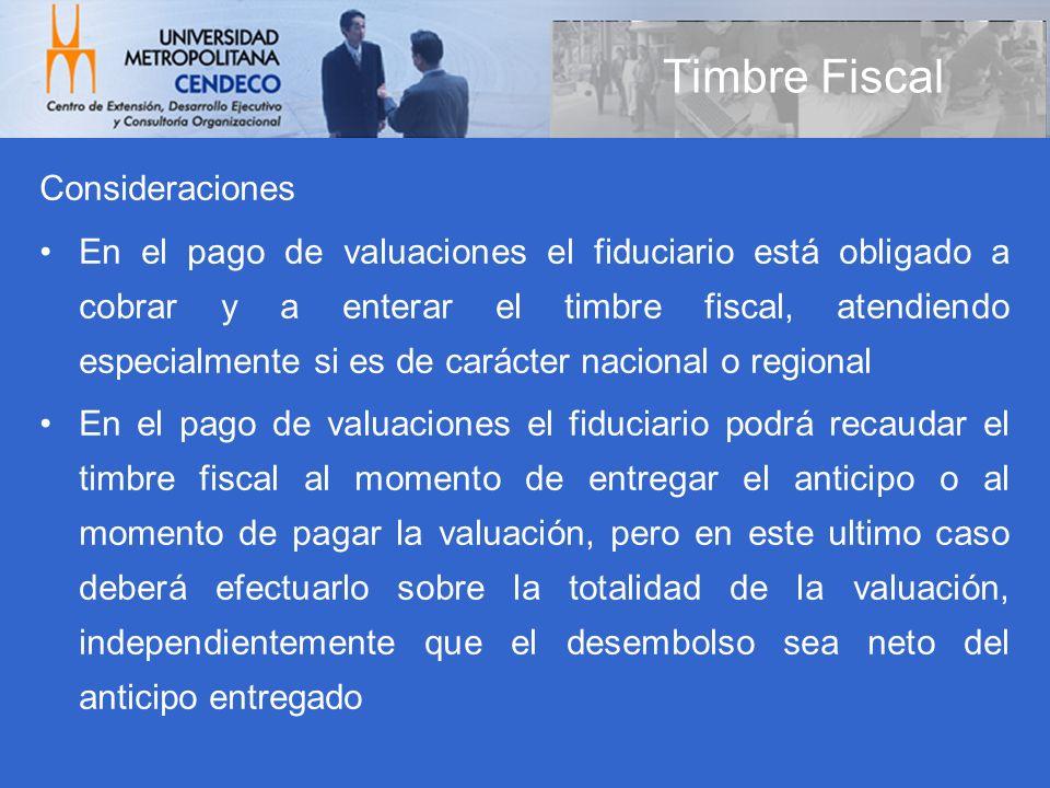 Timbre Fiscal Consideraciones