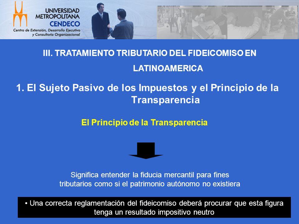 El Principio de la Transparencia