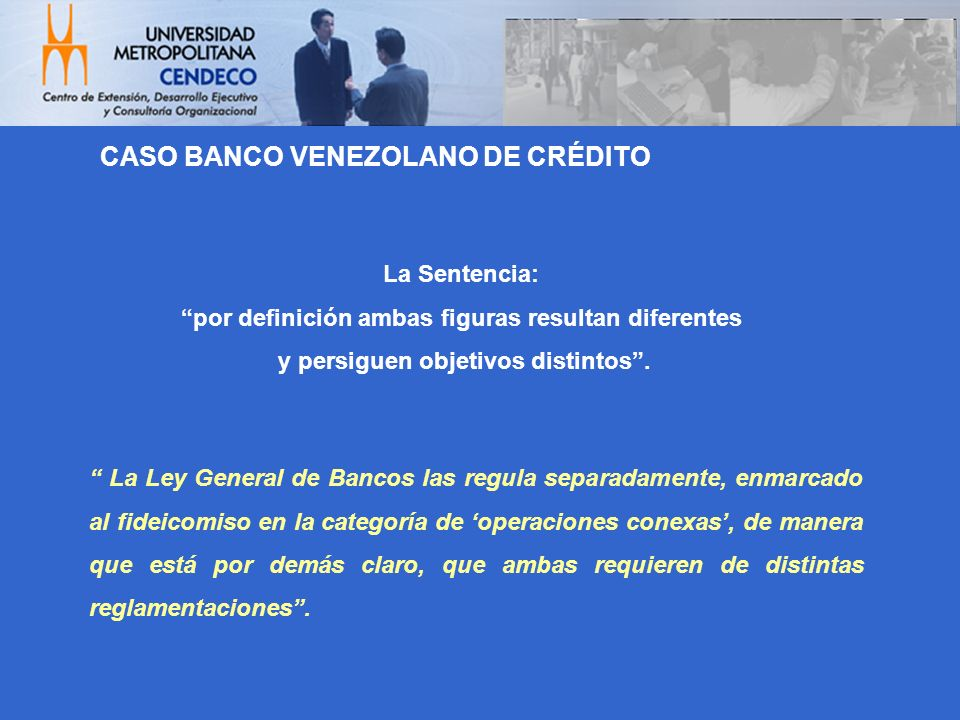 CASO BANCO VENEZOLANO DE CRÉDITO