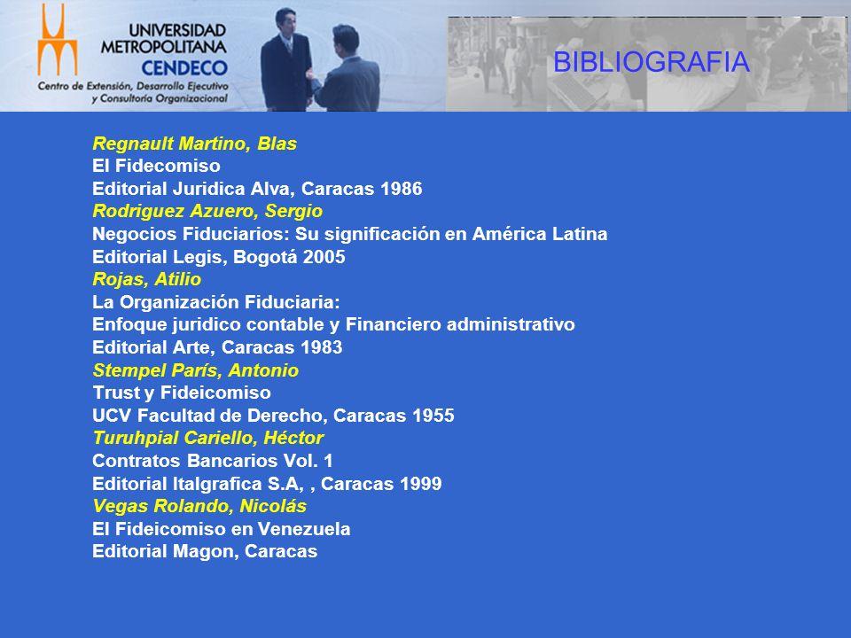 BIBLIOGRAFIA Regnault Martino, Blas El Fidecomiso