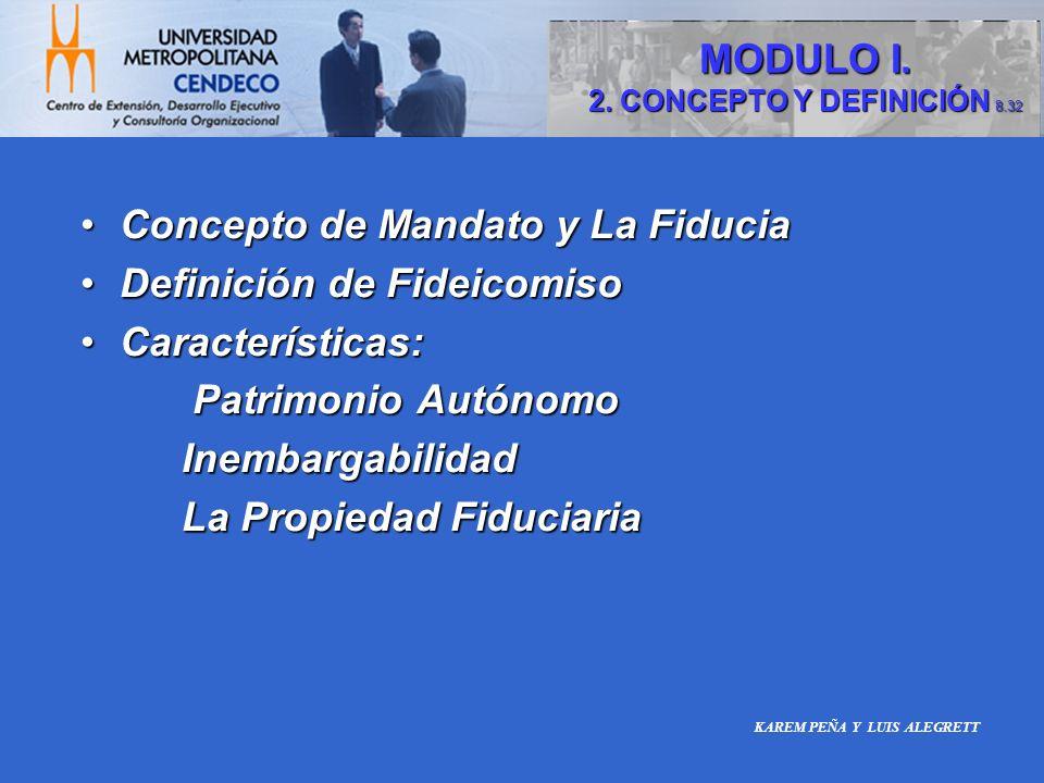 Concepto de Mandato y La Fiducia Definición de Fideicomiso