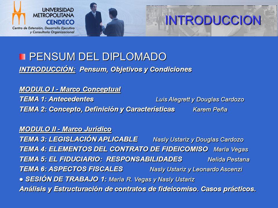 INTRODUCCION PENSUM DEL DIPLOMADO