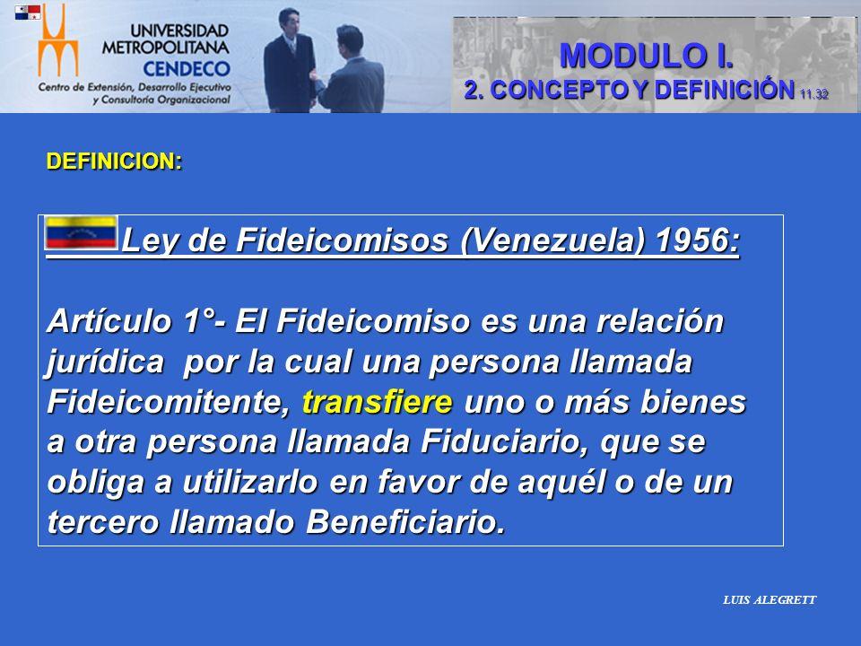 Ley de Fideicomisos (Venezuela) 1956: