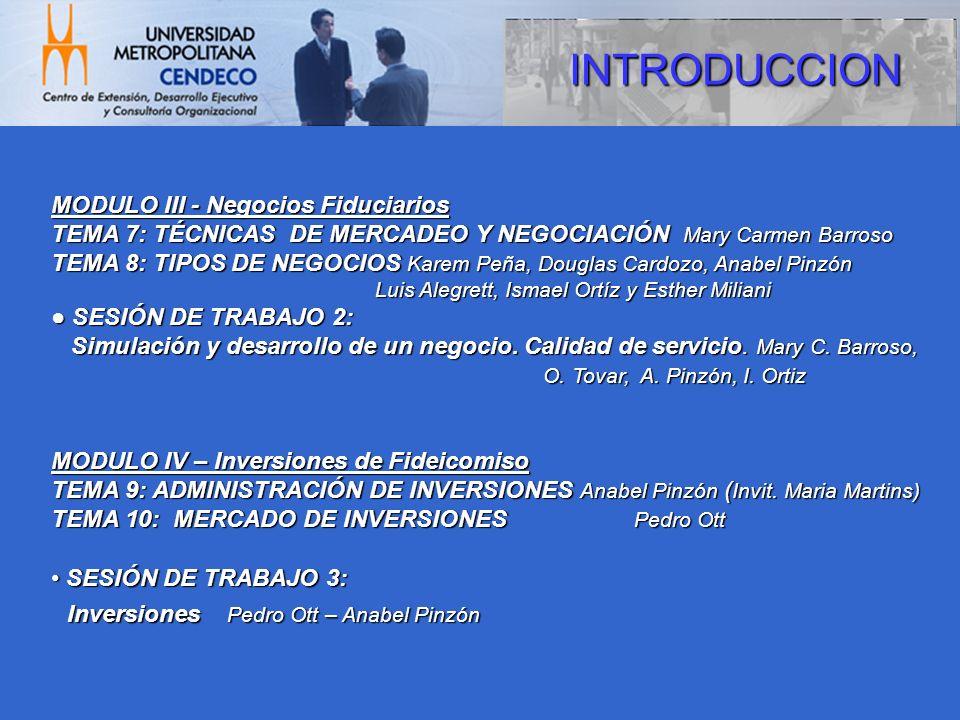 INTRODUCCION Inversiones Pedro Ott – Anabel Pinzón
