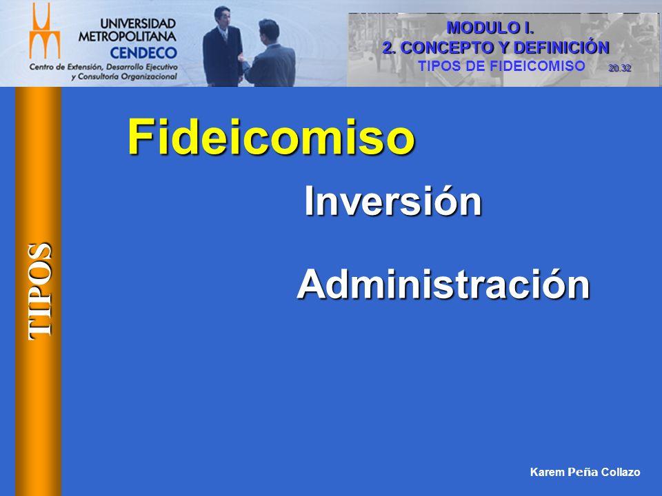 Fideicomiso Inversión Administración TIPOS MODULO I.