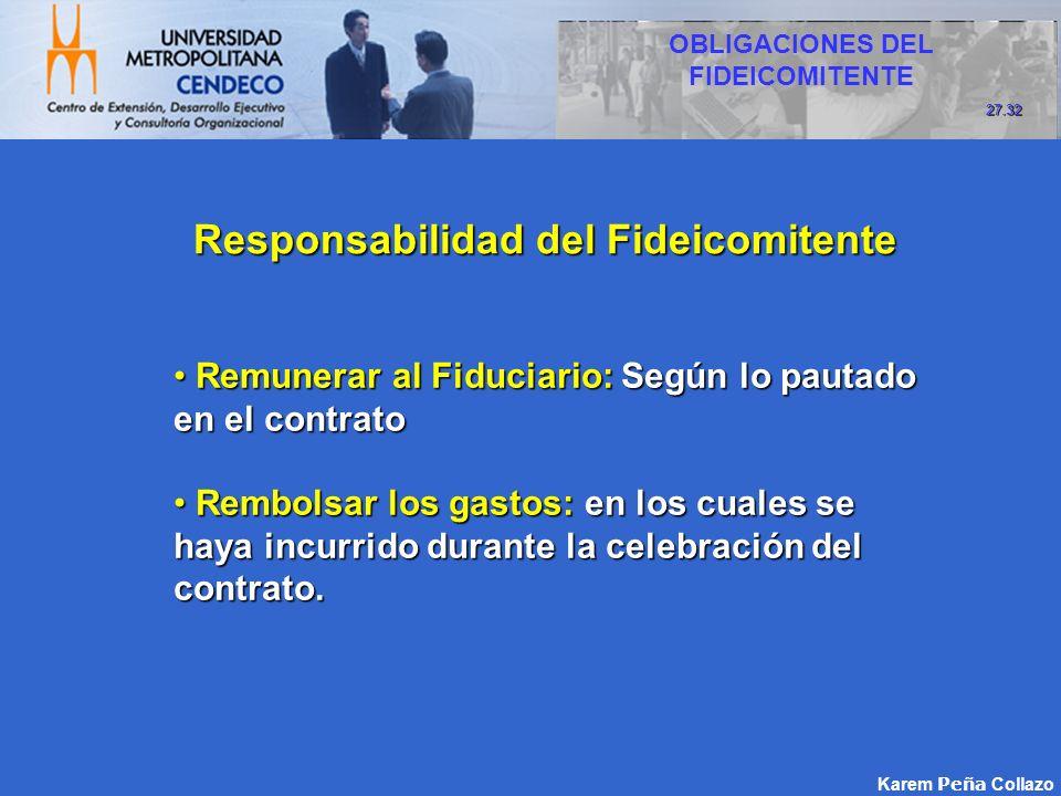 Responsabilidad del Fideicomitente
