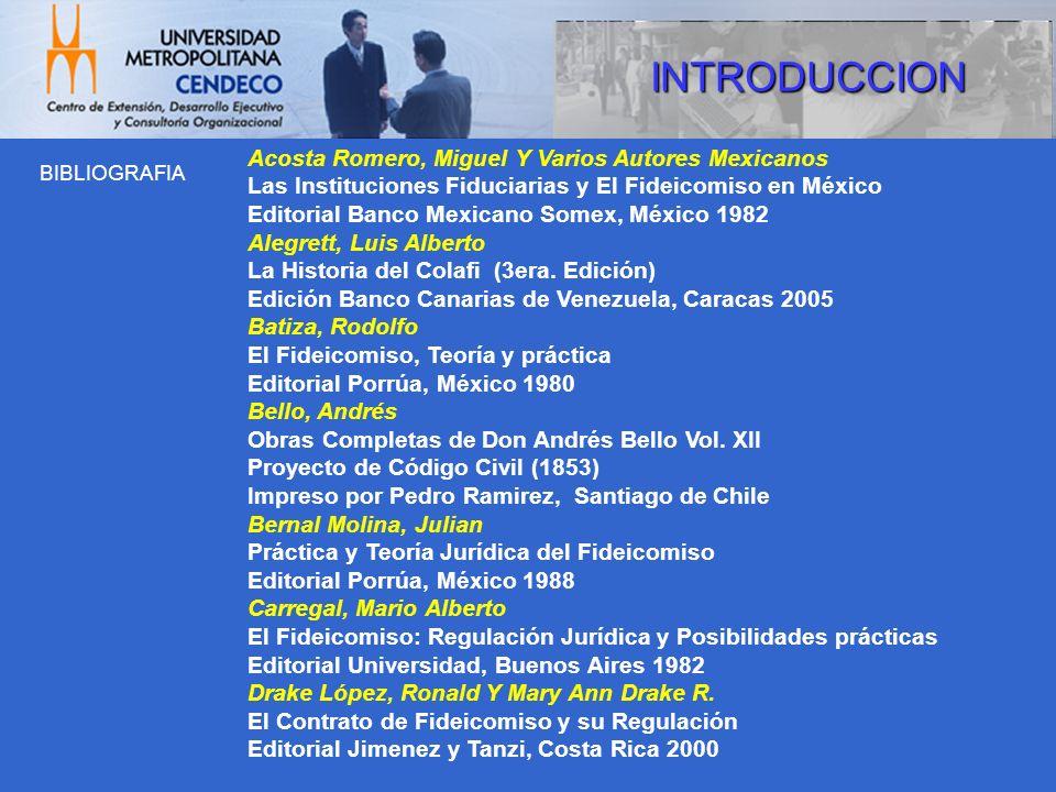 INTRODUCCION Acosta Romero, Miguel Y Varios Autores Mexicanos