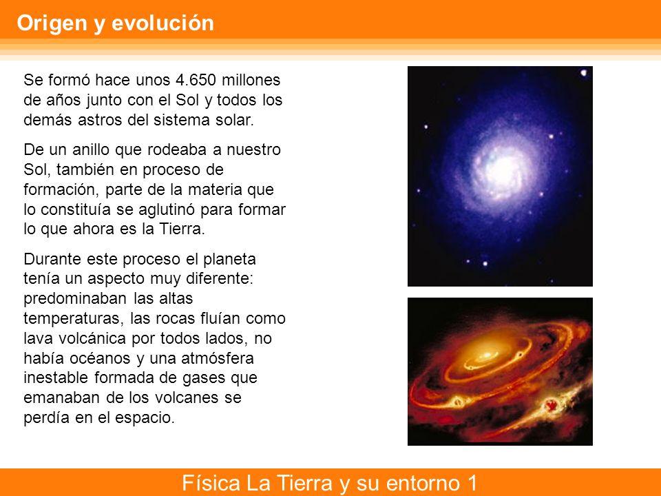 Origen y evolución Se formó hace unos 4.650 millones de años junto con el Sol y todos los demás astros del sistema solar.