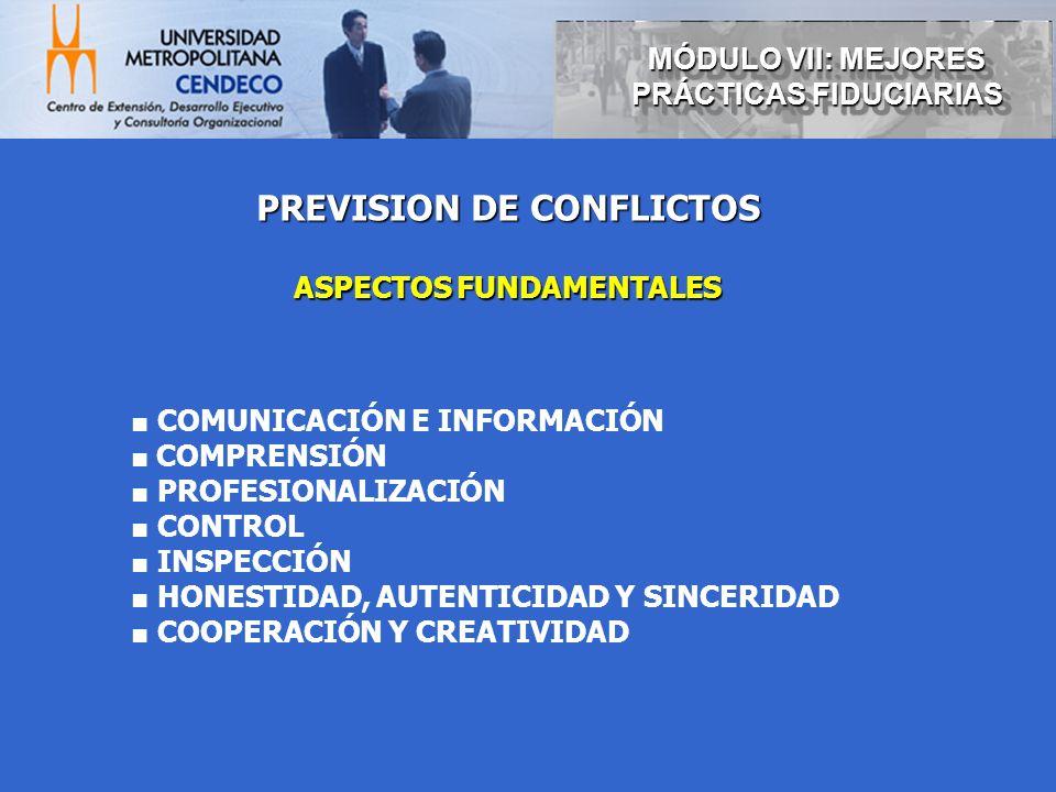 PREVISION DE CONFLICTOS