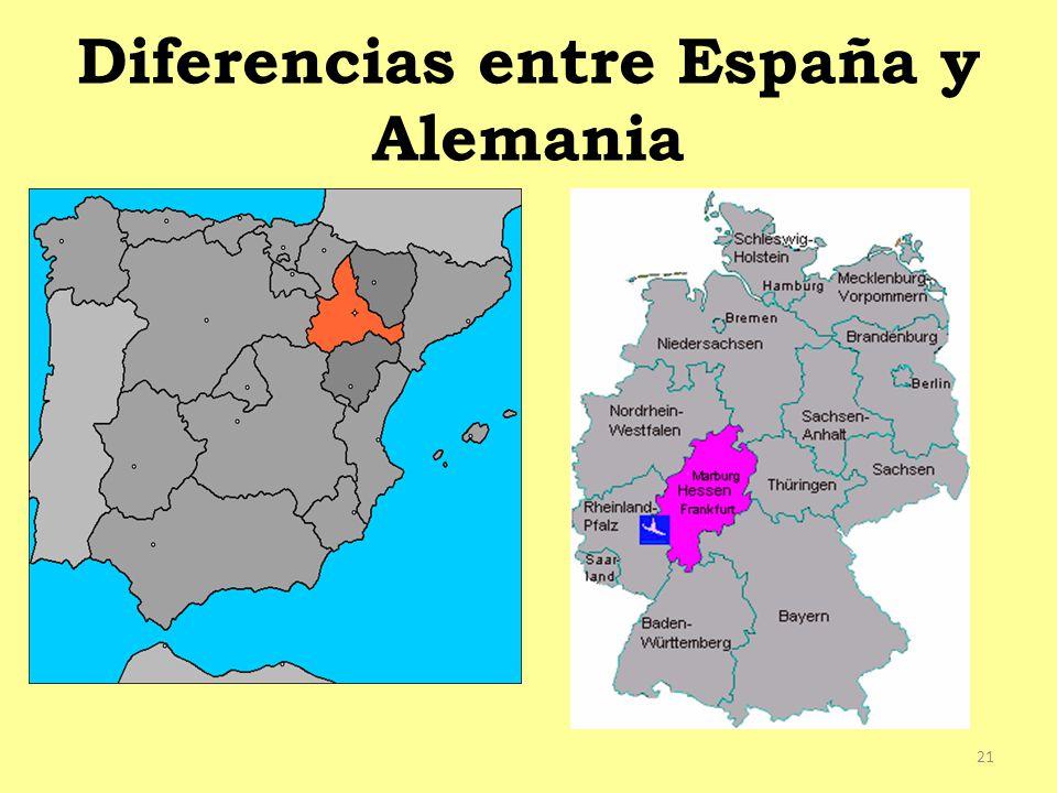 Diferencias entre España y Alemania
