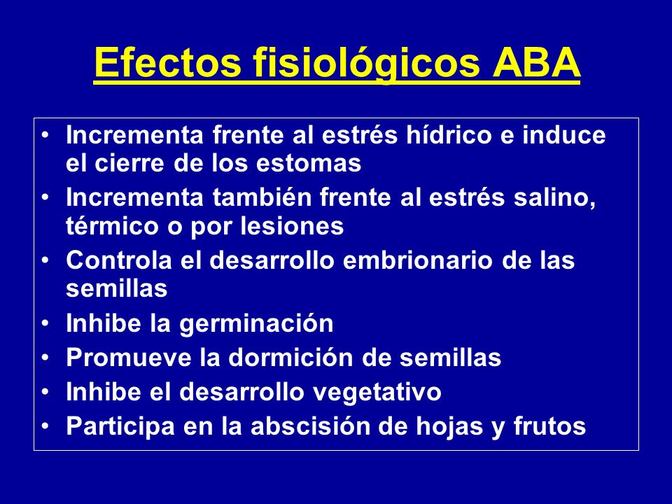 Efectos fisiológicos ABA