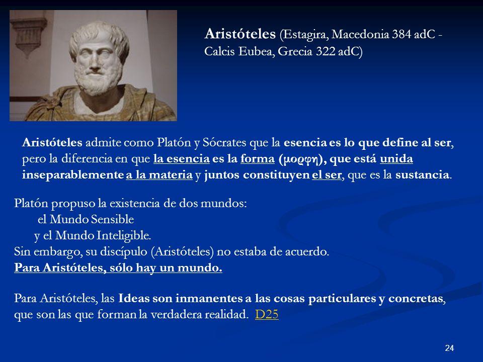 Aristóteles (Estagira, Macedonia 384 adC - Calcis Eubea, Grecia 322 adC)