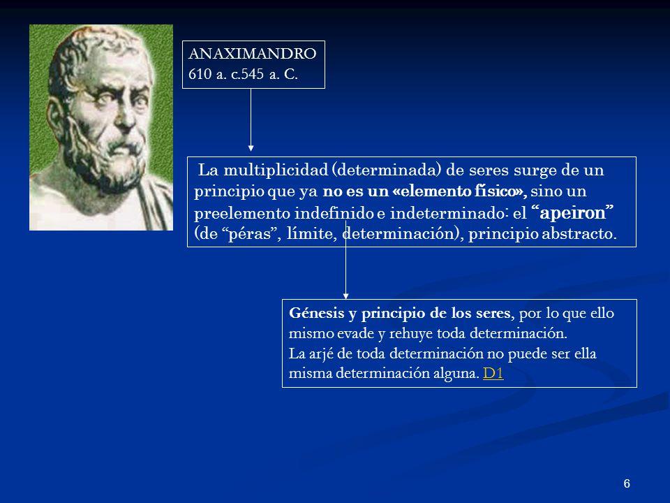 ANAXIMANDRO 610 a. c.545 a. C.