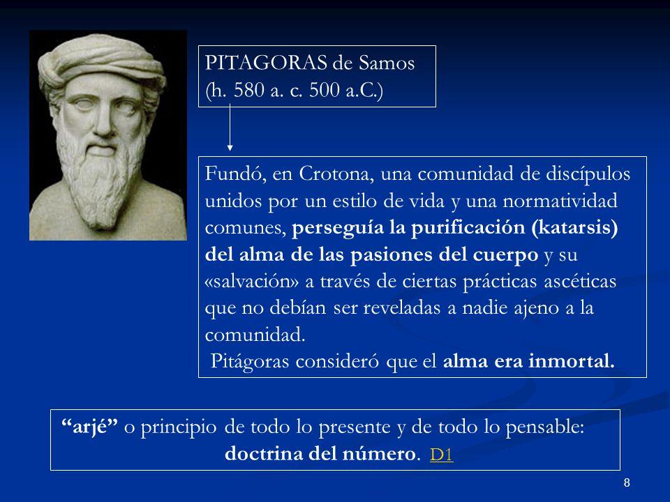 PITAGORAS de Samos (h. 580 a. c. 500 a.C.)