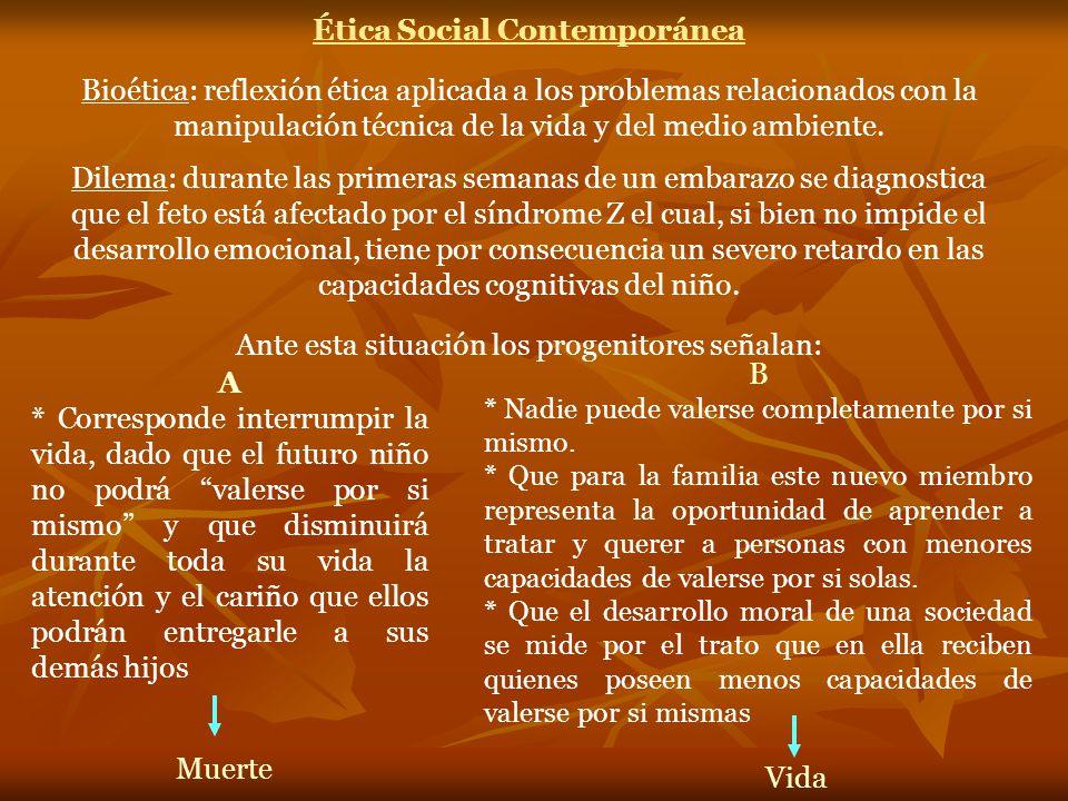 Ética Social Contemporánea