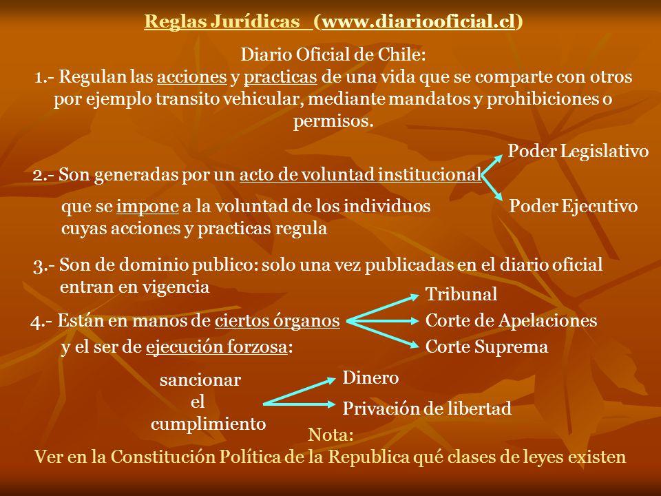 Reglas Jurídicas (www.diariooficial.cl)