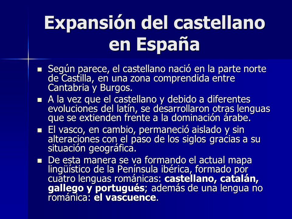 Expansión del castellano en España