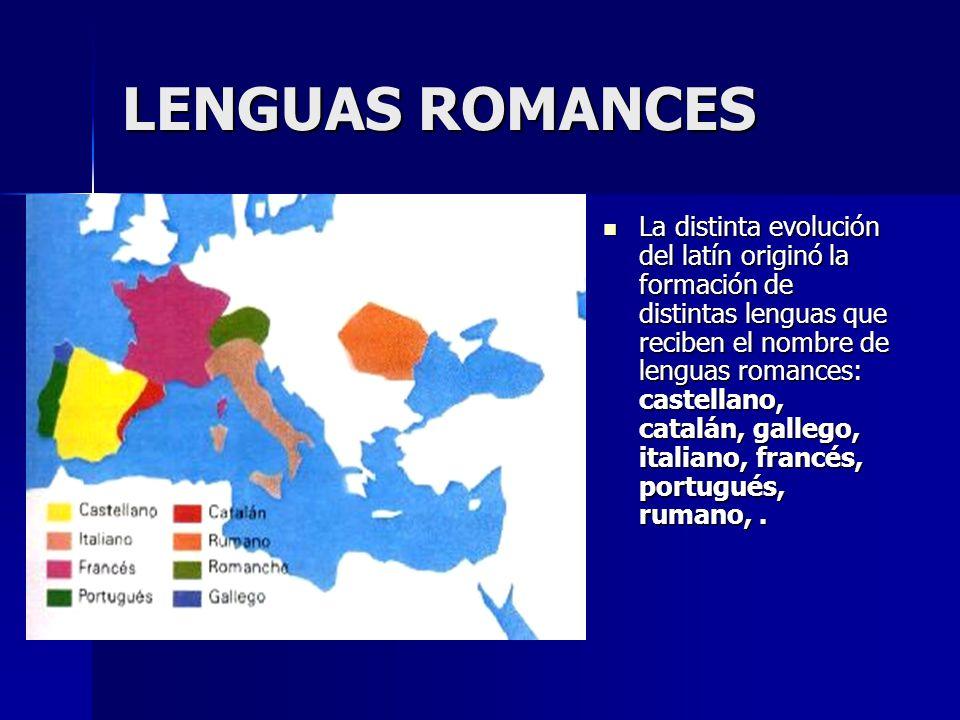 LENGUAS ROMANCES