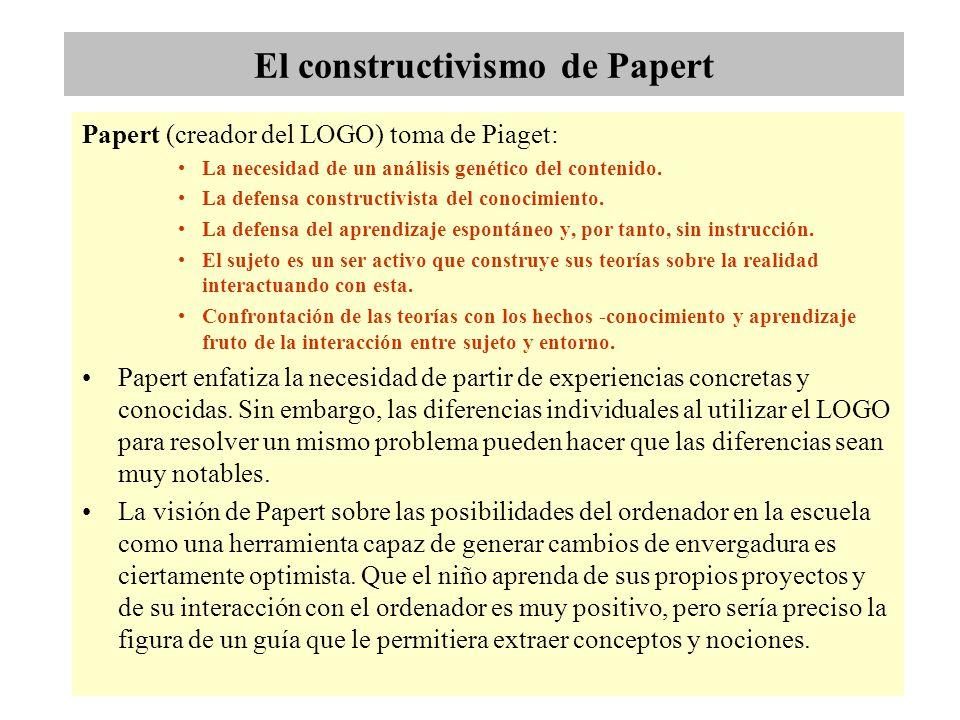 El constructivismo de Papert