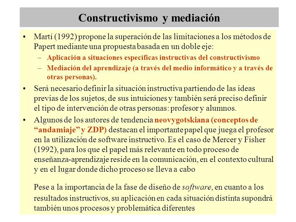 Constructivismo y mediación