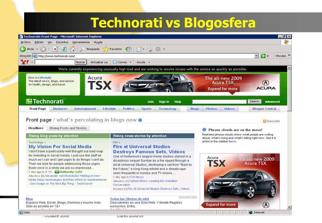 Technorati vs Blogosfera