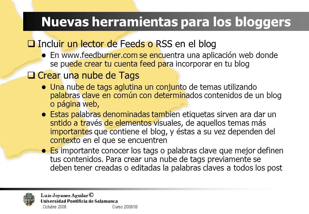 Nuevas herramientas para los bloggers
