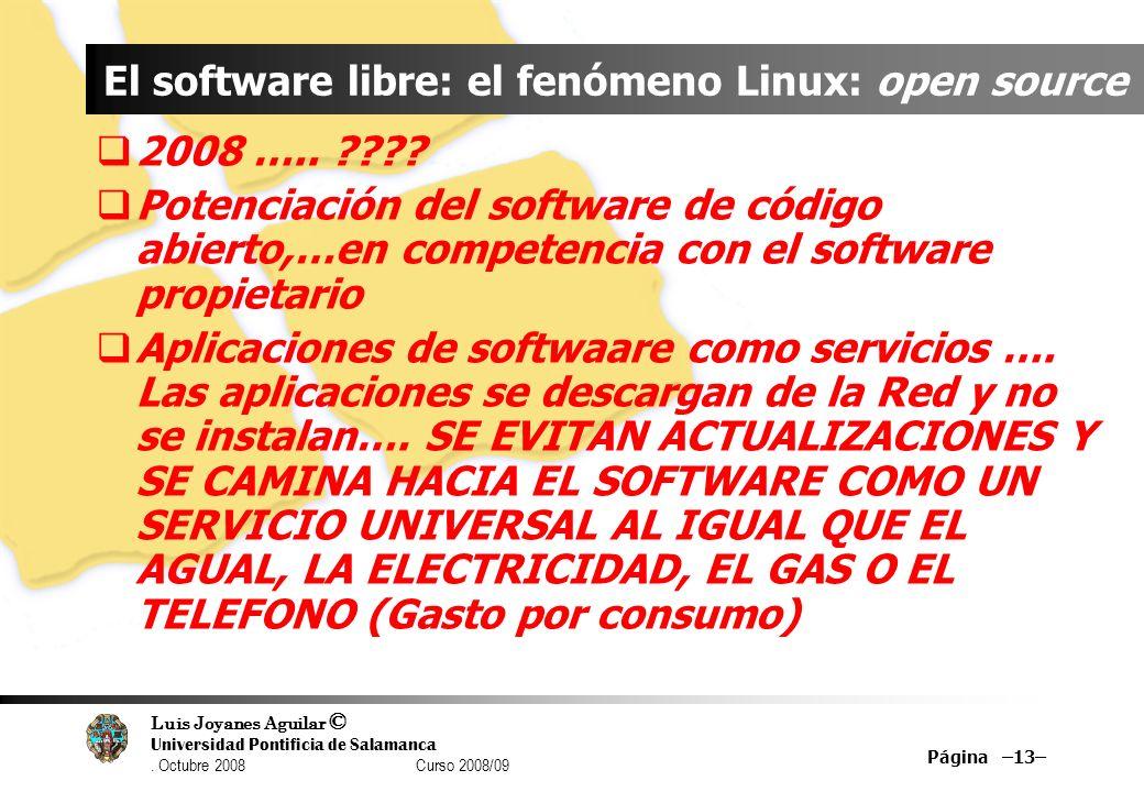 El software libre: el fenómeno Linux: open source