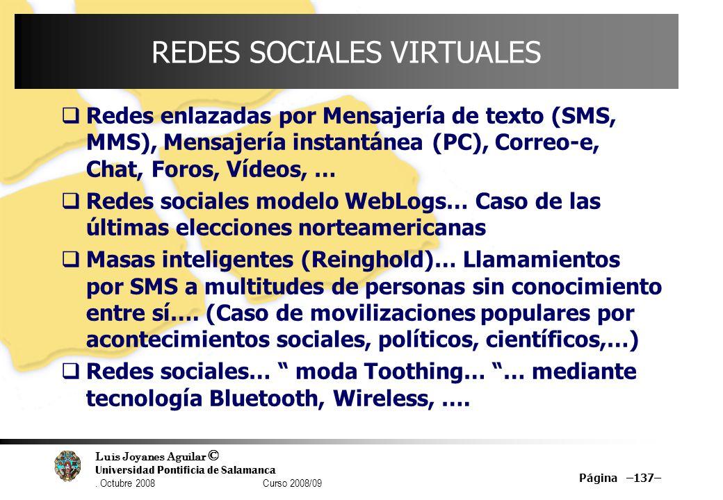 REDES SOCIALES VIRTUALES