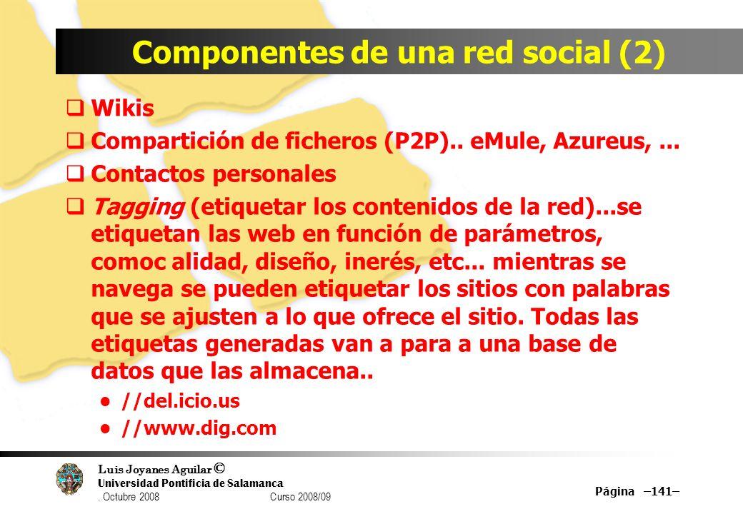 Componentes de una red social (2)