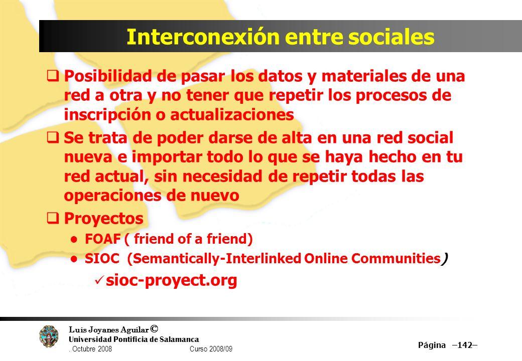 Interconexión entre sociales