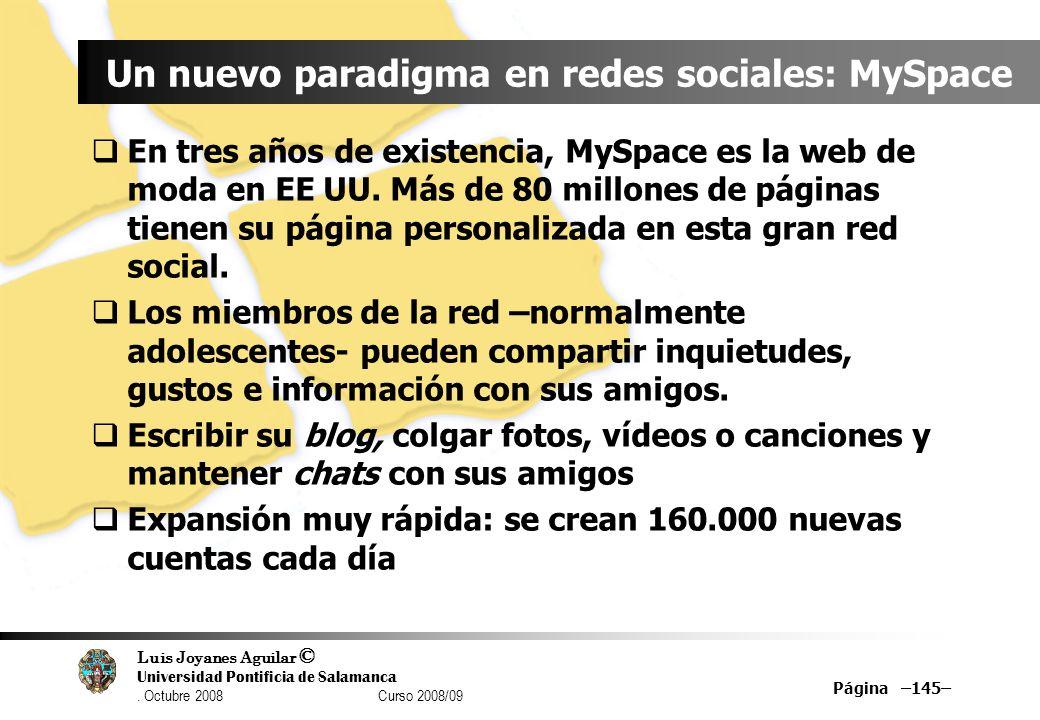 Un nuevo paradigma en redes sociales: MySpace