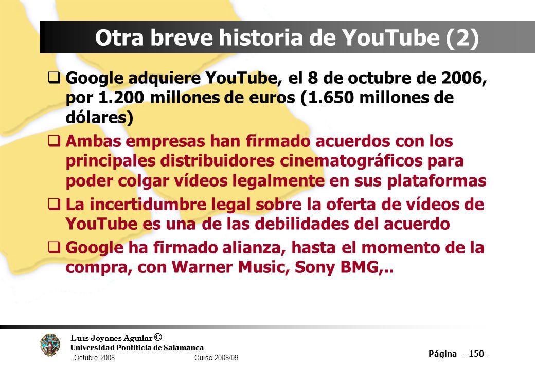 Otra breve historia de YouTube (2)